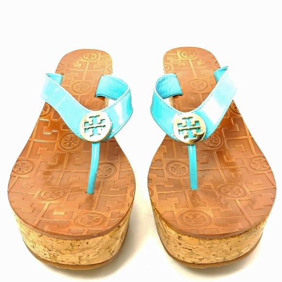 49d4444460 Tory Burch Wedge Sandals Sz 6.5M. M_5c5a716cc2e9fedf6e17b11f